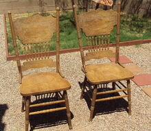 easy upcycle for commonly discarded chairs, home decor, painted furniture, repurposing upcycling, shabby chic, Before