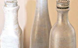 faux ivory mother of pearl bottle vases with decorative knobs, chalk paint, home decor, painting, repurposing upcycling