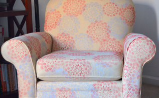 upholstered chair makeover, painted furniture, Stenciled chair