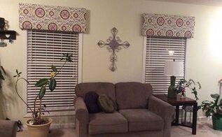window valances, diy, home decor, living room ideas, window treatments, windows, I love them