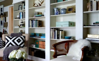 ikea billy bookcase library wall, diy, storage ideas, DIY LIbrary Wall using IKEA BILLY bookcases