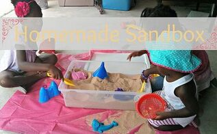 diy sandbox in a storage container, crafts, repurposing upcycling, Make a home made sandbox in a storage container