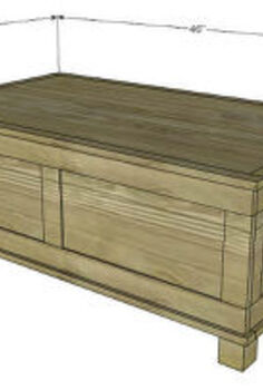 plans to build a stylish paneled trunk, diy, how to, painted furniture, woodworking projects