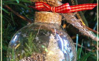 diy rustic country shaker ornaments, christmas decorations, crafts, seasonal holiday decor, DIY Rustic Country Shaker Ornaments