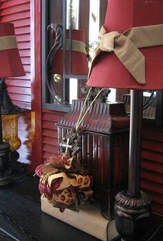 decorating with shutters, foyer, home decor, repurposing upcycling, My red shutters in the entry way