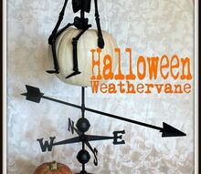 a broken weathervane gets a halloween facelift, halloween decorations, repurposing upcycling, seasonal holiday d cor