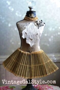 a french refined dress form, crafts, repurposing upcycling