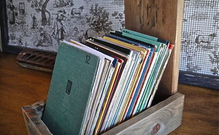 farmhouse style file box, cleaning tips, crafts, Please note the books were in bad shape otherwise I would not have removed the covers I love that they have a new life and are used everyday