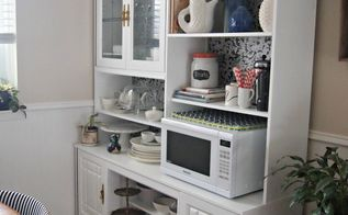 making over an 80 s wall unit into a kitchen hutch, home decor, kitchen design, painted furniture, repurposing upcycling