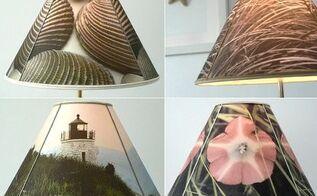 diy lampshade made with inkjet fabric and self adhesive lampshade, crafts, home decor, DIY lampshades made with photos printed on inkjet fabric