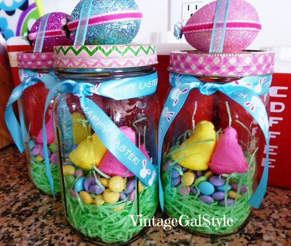 Easter chick egg mason jar hometalk for Mason jar easter ideas