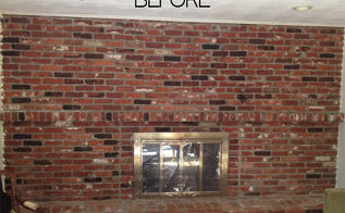 how to paint an old brick fireplace, fireplaces mantels, painting, 1973 old brick fireplace floor to ceiling It left the family room dark and dreary