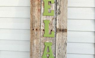 outdoor pallet sign, outdoor living, pallet, repurposing upcycling, I then glue the letters on to the pallet and displayed it in my patio The best part about this project is that it cost less than 10 00 to make