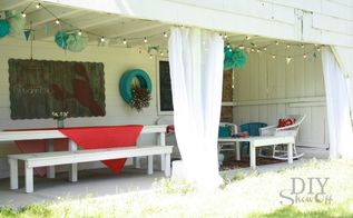 scary to useful and cozy covered porch, outdoor furniture, outdoor living, repurposing upcycling, After