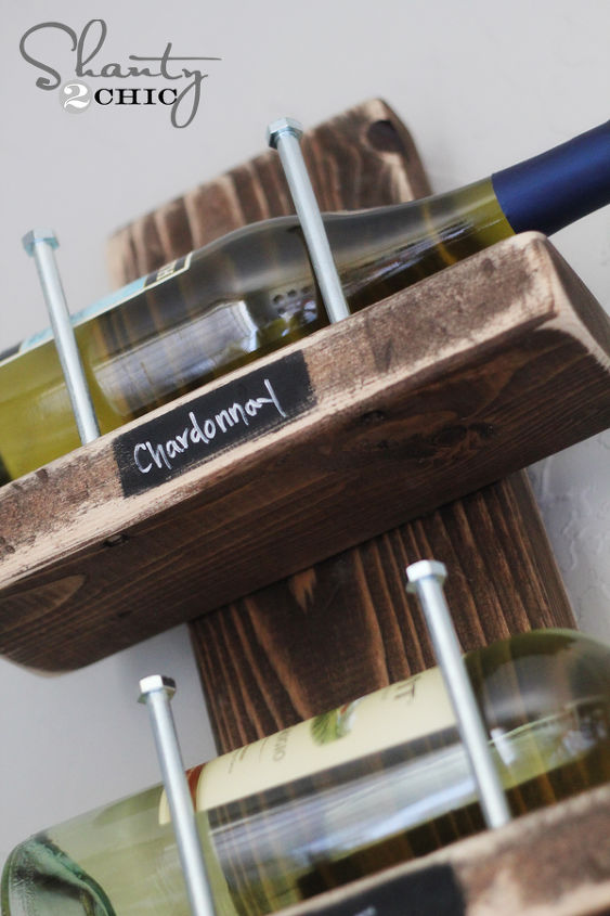 Diy 15 wine rack hometalk for How to make a simple wine rack