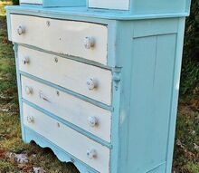 dresser makeover with milk paint and chalk paint, chalk paint, painted furniture