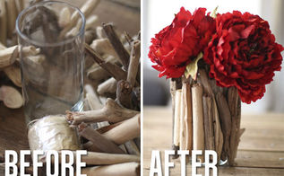 diy driftwood vase, crafts