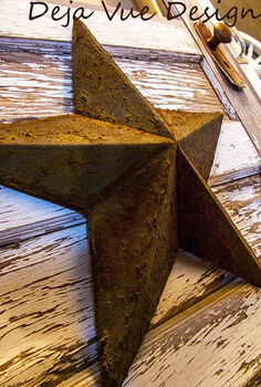 making a texas star from a leftover box, crafts, repurposing upcycling, By looking at this star you would think it were metal