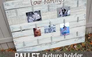 diy pallet picture holder, pallet