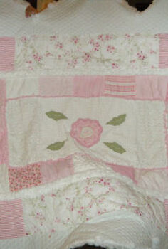 from baby quilt to big girl comforter, crafts, Big Girl Comforter
