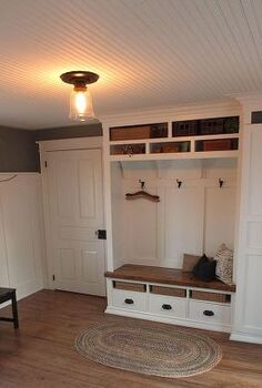 mudroom before and after, home decor, laundry rooms, More storage than I know what to do with