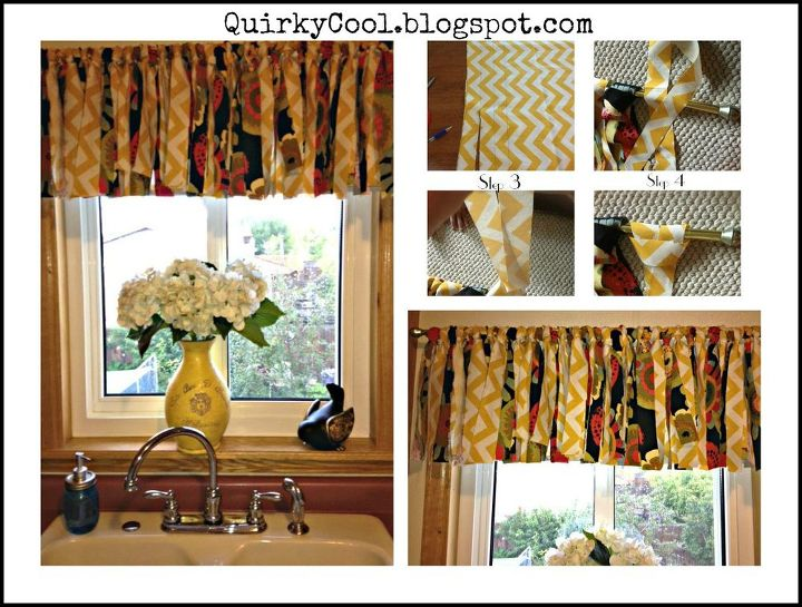 Diy no sew curtains hometalk How to make a valance without sewing