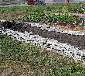 Recycling Concrete Driveways Into A Beautiful Rock Garden Wall, Concrete  Masonry, Flowers, Gardening