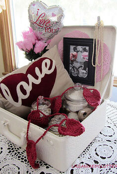 a valentine s day love suitcase, repurposing upcycling, seasonal holiday d cor, valentines day ideas