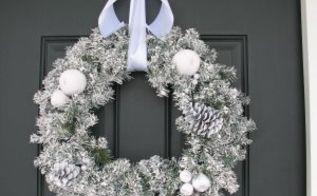 winter wreath, crafts, wreaths, winter wreath