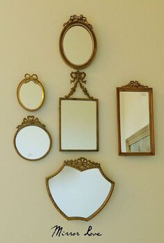 decorating your walls with vintage mirrors, home decor