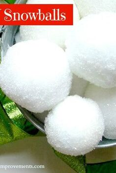 diy snowballs, crafts, seasonal holiday decor, DIY Snowballs