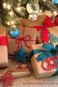 brown paper packages tied up with strings, christmas decorations, crafts, seasonal holiday decor