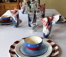 4th of july tablescape, living room ideas, patriotic decor ideas, seasonal holiday decor