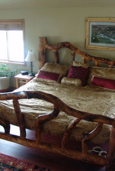 i had a little spare time yesterday so i took the plunge and set up a facebook, King sized Aspen log bed