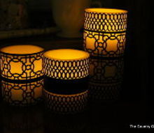 diy paper candle wraps, crafts