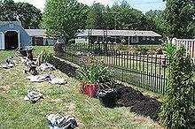 beginning of a back yard, decks, flowers, gardening, landscape, outdoor living