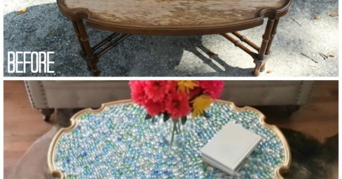 Coffee Table With A Bright New Look Hometalk