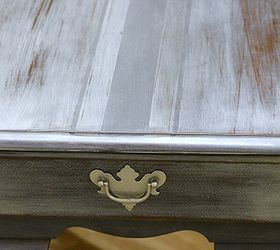 Handpainted Gray French Grain Sack End Tables, Chalk Paint, Painted  Furniture, Closeup Of