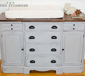 Updated Dresser Turned Changing Table, Chalk Paint, Painted Furniture,  Woodworking Projects, This
