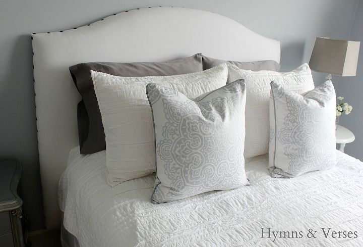 DIY Upholstered Headboard With Nail Head Trim | Hometalk