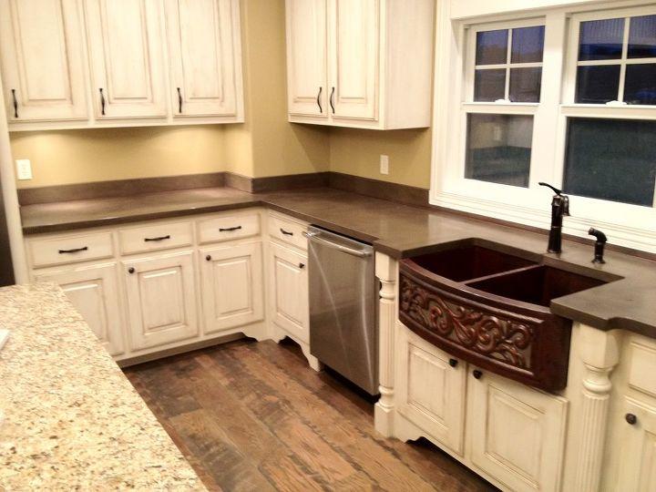 concrete countertops amp backsplash concrete countertops countertops home decor kitchen backsplash