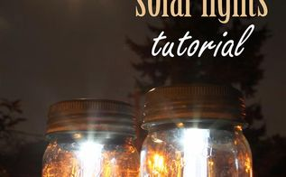 mason jar solar lights, crafts, mason jars, outdoor living