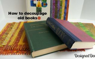 how to decoupage old books, crafts, decoupage