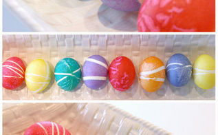use rubber bands for decorating easter eggs, crafts, easter decorations, repurposing upcycling, seasonal holiday decor, Boil eggs and let them cool Helpful hint Adding a tablespoon of vinegar and a pinch of salt will help prevent cracking