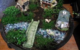 fire pit fairy garden, crafts, gardening