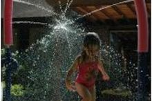 backyard retreats, outdoor living, Make a splash Connecting water hose to Noodles and pools adds hours of fun