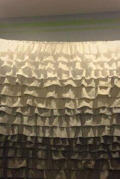 diy ruffle shower curtain, crafts