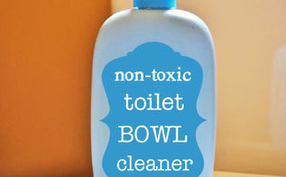 homemade non toxic toilet bowl cleaner, bathroom ideas, cleaning tips, go green