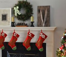 holiday home tour, christmas decorations, seasonal holiday decor, wreaths, Mantel with Stockings and wreath