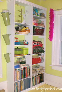 diy built in bookcase, storage ideas, DIY Built In Bookcase